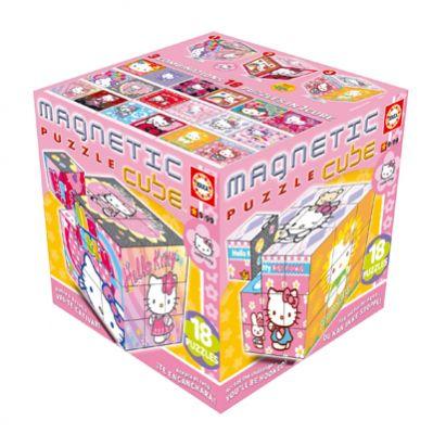 Пъзел магнитни кубчета - Hello Kitty