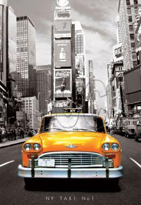 Картонен пъзел Такси №1, Ню Йорк