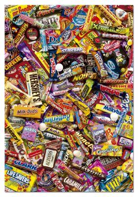 """Картонен пъзел """"Шоколадчета"""" - 500 части"""