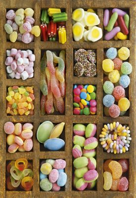 """Картонен пъзел """"Бонбони"""" - 500 части"""