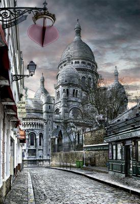 """Картонен пъзел """"Монмартр, Париж /HDR"""" - 1000 части"""