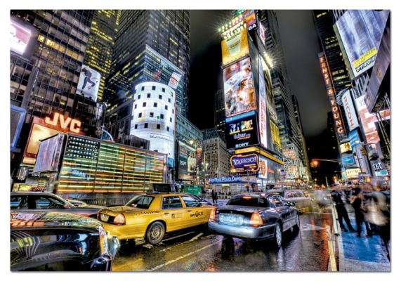 """Картонен пъзел """"Таймс Скуеър, Ню Йорк /HDR""""- 1000 части"""