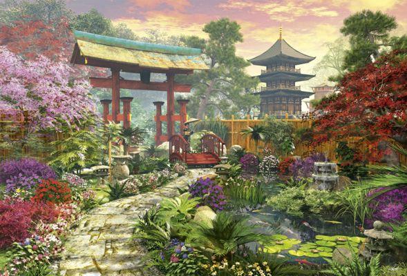 """Картонен пъзел """"Японска градина"""" - 3000 части"""