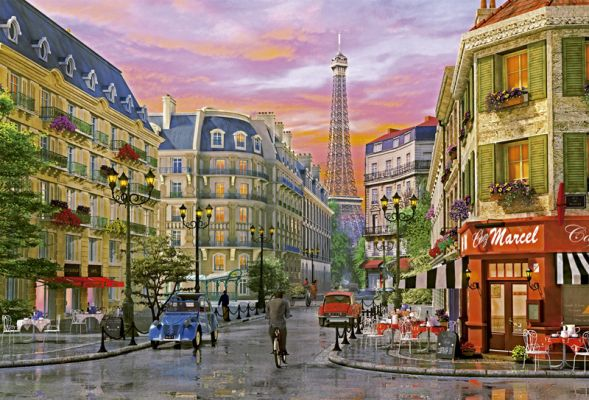 "Картонен пъзел ""Rue Paris (Улица Париж)"", художник Д. Дейвисън - 5000 части"