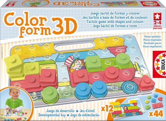 """Пъзел за най-малките """"Цветни форми 3D"""", за деца от 2 до 4 години"""