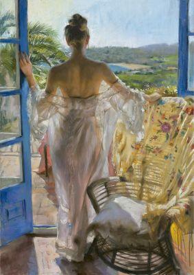 "Картонен пъзел ""Средиземноморска"" - 1500 части, художник Висенте Ромеро"