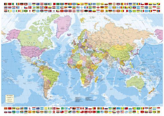 """Картонен пъзел """"Карта на света"""" - 1500 части"""