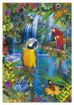 """Картонен пъзел """"Птичето царство в тропиците"""" - 500 части"""